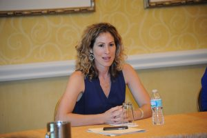 Keri Potts, ESPN's Public Relations Senior Director of College Sports, speaks to members of FPRA's Counselors' Network. To join CN, FPRA members must have their APR and CPRC credentials.